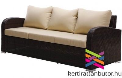 Kerti rattan bútor, Malaga 3 személyes kerti kanapé
