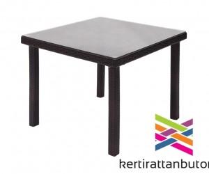 Kerti rattan asztal-90x90 cm-Florida