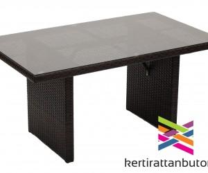 Magasított kerti asztal ülőgarnitúrához-140x80 cm
