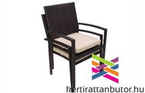 Rakásolható kerti rattan szék