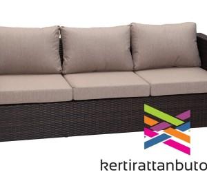 Rattan kanapé 3 személyes -Cannes