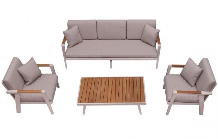Emoti 5 személyes alumínium kerti bútor