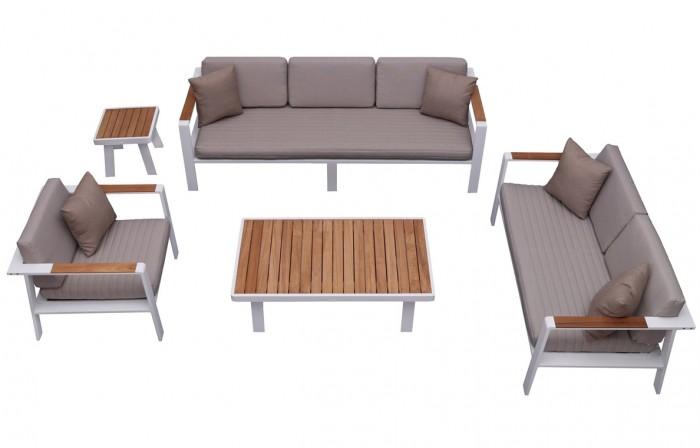 Nofi 6 személyes kerti bútor teakfa asztallal-Higold