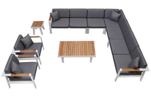 Nofi 9 személyes kerti bútor szett teakfa asztallal-Higold