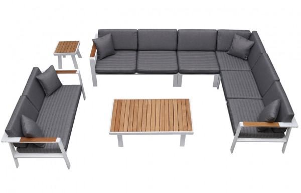 Nofi 8 személyes prémium kerti bútor teakfa asztallal-Higold