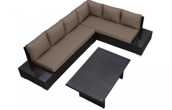Kerti sarokgarnitúra barna huzattal- 6 személyes, magasított asztallal