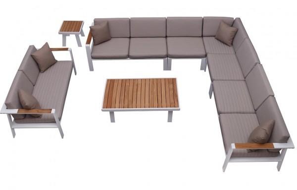 Nofi 9 személyes sarokszett teakfa asztallal-Higold