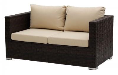 Kerti bútorok-Cannes 2 személyes rattan kerti kanapé