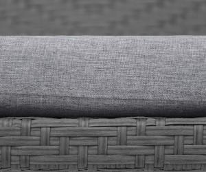 Szürke színű rattan fonat szürke párnahuzattal