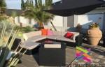 Kerti rattan ülőgarnitúra-New York 10 személyes kerti bútor
