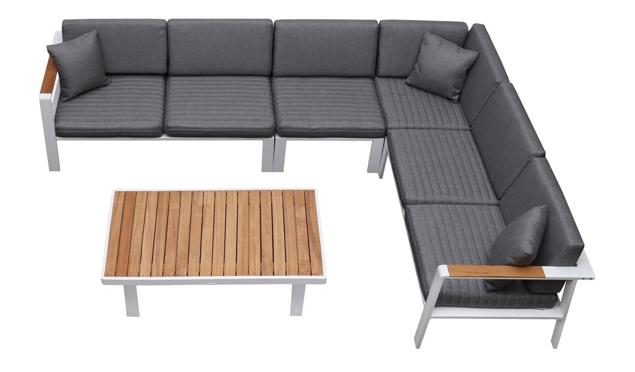 Nofi 6 személyes kerti bútor szett teakfa asztallal Higold